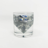 Clear Crystal Diamond Cosmetic Jar, Skin Care Cream Packaging Onion/Cone shape