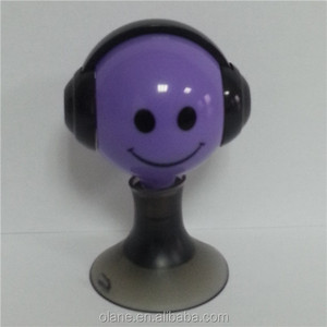 Portable gift 3.5mm earphone splitter for iphone/ipod/MP3/HTC/sumsang with suction cup