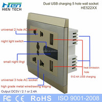 Wall plate electric USB lunch box
