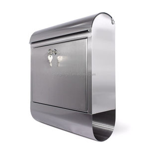 Mailbox Integrated Newspaper Stainless steel Letter Box with Paper Holder