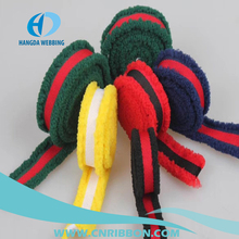 Stripe elastic band with plush side using for shoes