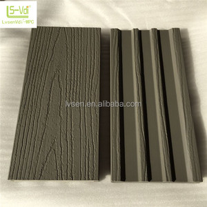 Embossed Wood Plastic Composite Co-extrusion WPC Decking Floor Cover