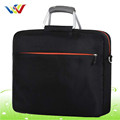 Men 15'' professional business messenger laptop bag with metal handle