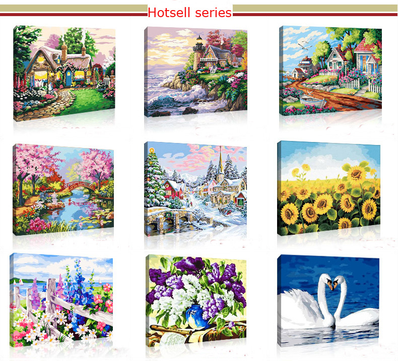 Diy Digital Oil Painting By Numbers Book For Sell DIY48