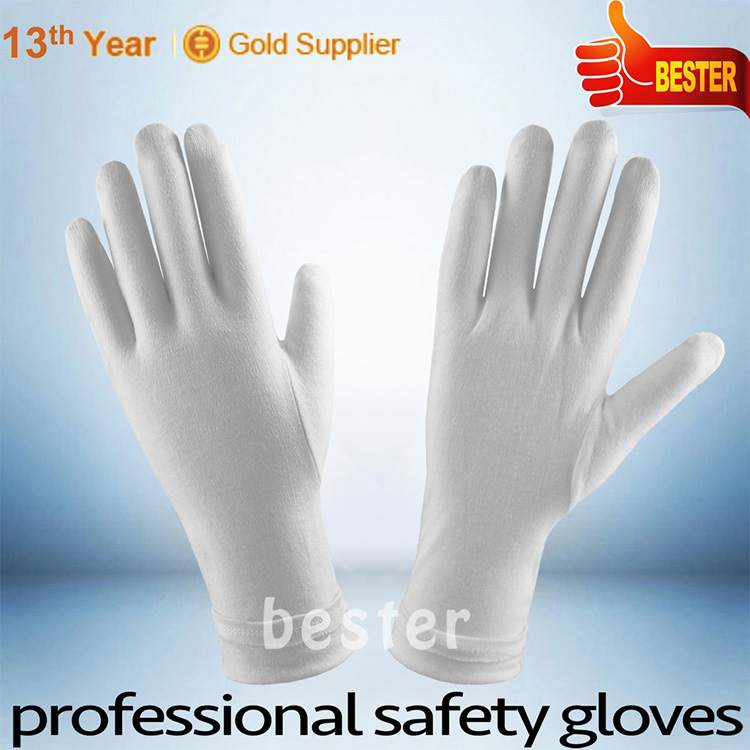 Hot new Best Selling cheap white cotton gloves pvc dots