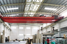 Electric SEW motor double beam workshop overhead crane for sale