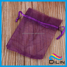 Factory Price Custom Printed Organza transparent fabric Bag