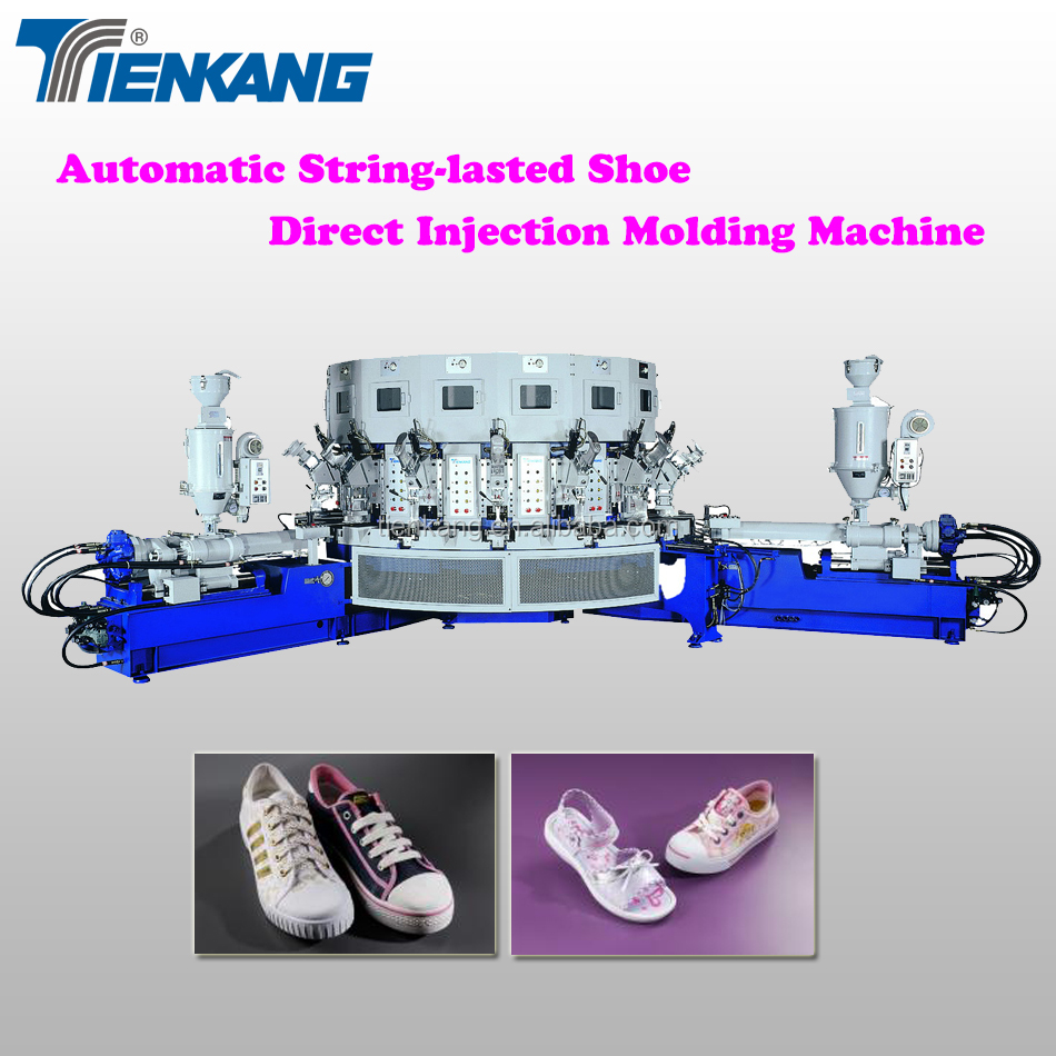 Automatic Two-color String-lasted Shoe Direct Injection Molding Machine