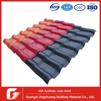 Building material synthetic spanish roof tile