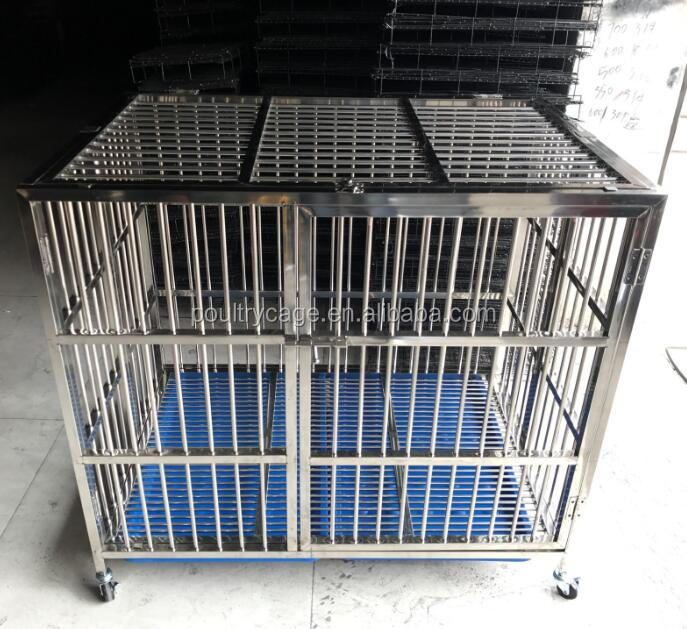 Dog Cage Plastic Flooring And Large Stainless Steel Dog Cage With Wheels