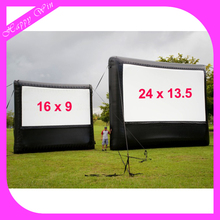 Large decorative inflatable outdoor cinema screen inflatable TV screen for kids and adult