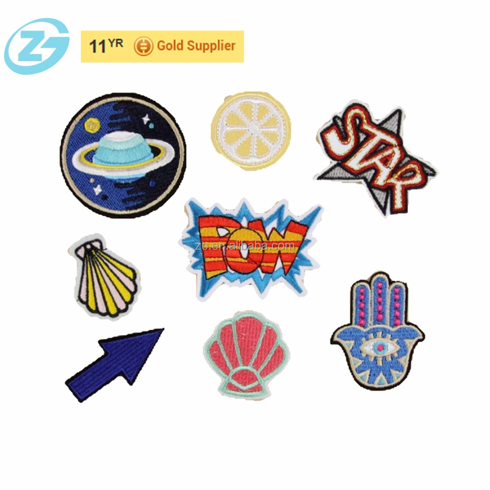 Laser Cut Iron-on Adhesive Clothing Applique Patches