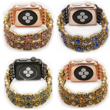 Wholesale woman fashion style gemstone watch srtap for Apple Watch 1/2/3