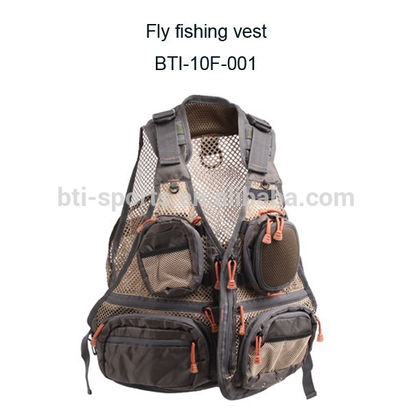 Front fold classic design fly fishing fisher vest