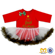 Toddlers Long Sleeves Christmas Tutu Skirt Romper Baby Autumn Clothes Baby Rompers Wholesale