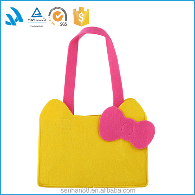 Customized High Quality wool felt lunch bag with handles