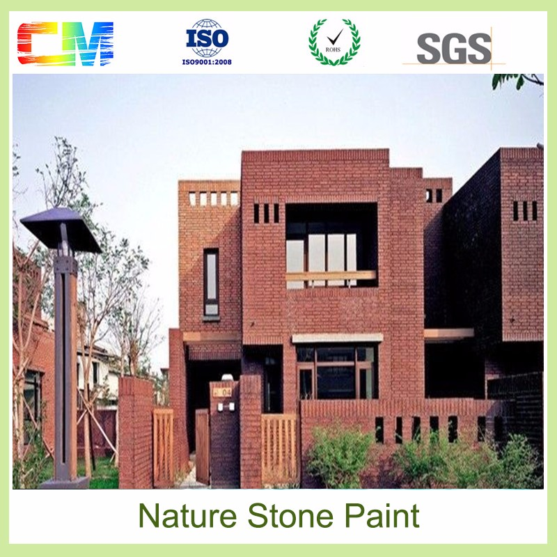 Best chemical resistanc anti fire waterbased removable stone texture wall paint