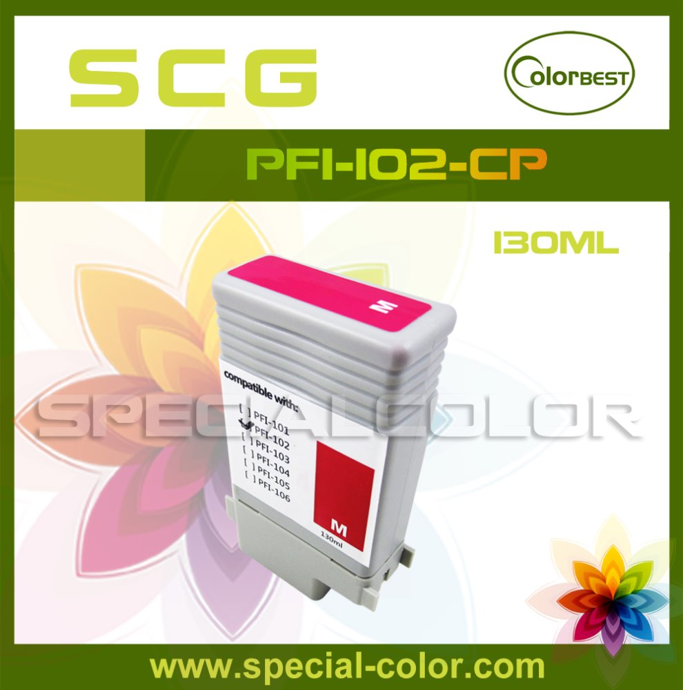 compatible PFI-102 ink cartridges for canon IPF510 IPF610 printer