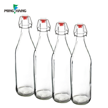 1litre Beverage Swing Top water Glass frint juice Bottles