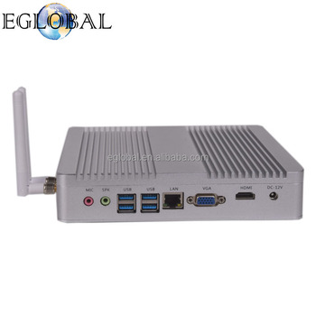 1LAN 1HD Fanless Mini Computer V8-7100U Server Wins 10 Intel Core i3 7100U HTPC Intel HD Graphics 620