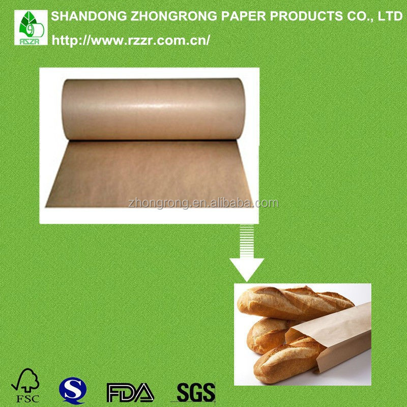 wood pulp 80g PE coated food packing kraft paper