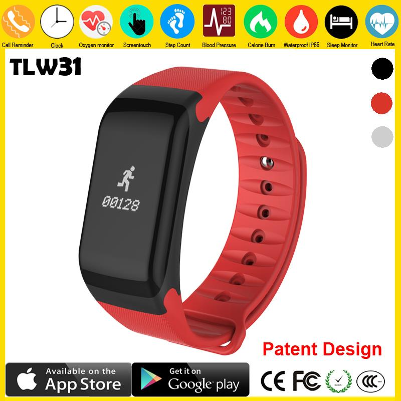 Toleda New wearable workout tracker bracelet device to measure steps and calories intelligent wristband