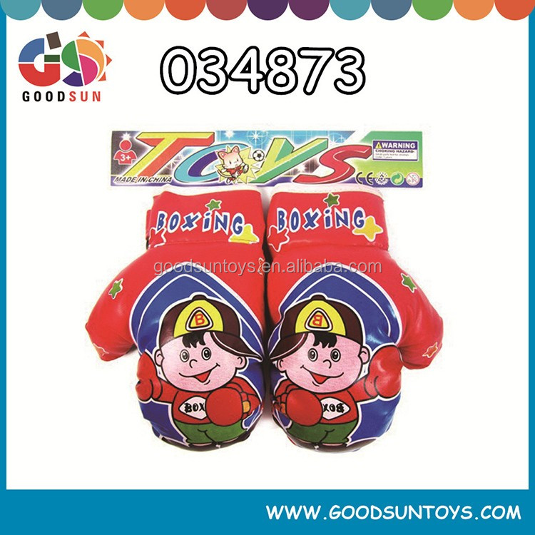 Mini boxing gloves with cartoon design for kids