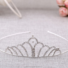 Newest design fashion crown wedding crown bride tiaras for kids