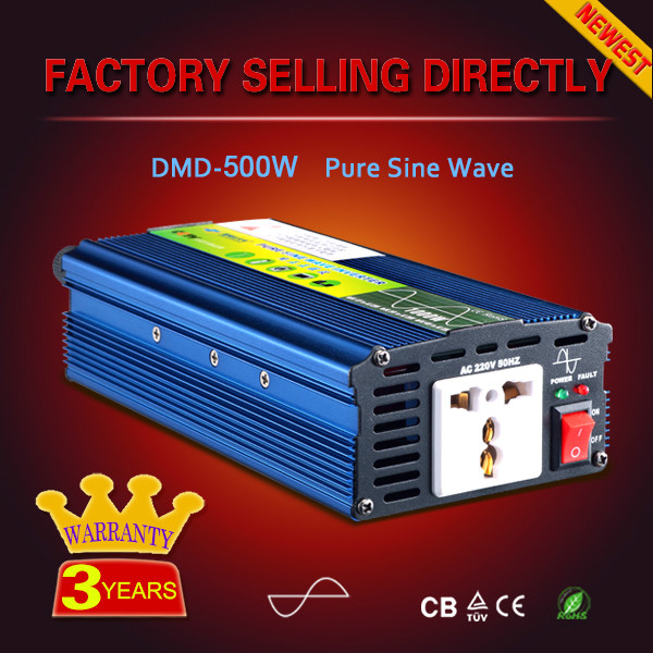 Dc to ac top quality inverter kit 500w 1000w 12v 48v 220v pure sine wave inverter for led light