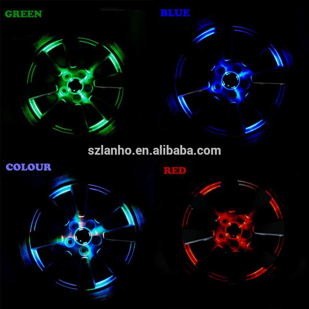 2016 new colorful Solar Car Wheel Tire Tyre LED Decorative Light