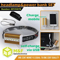 Multi 2835 SMD LED USB Cable Miner Headlamps Head Light