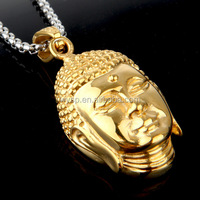 2015 hot new gold thailand jewelry buddha head buddha pendant for men