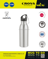 750ML SPORT BOTTLE WITH CARABINER STAINLESS STEEL WATER BOTTLE