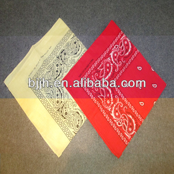 Colorful american kerchief cotton fabric for europe