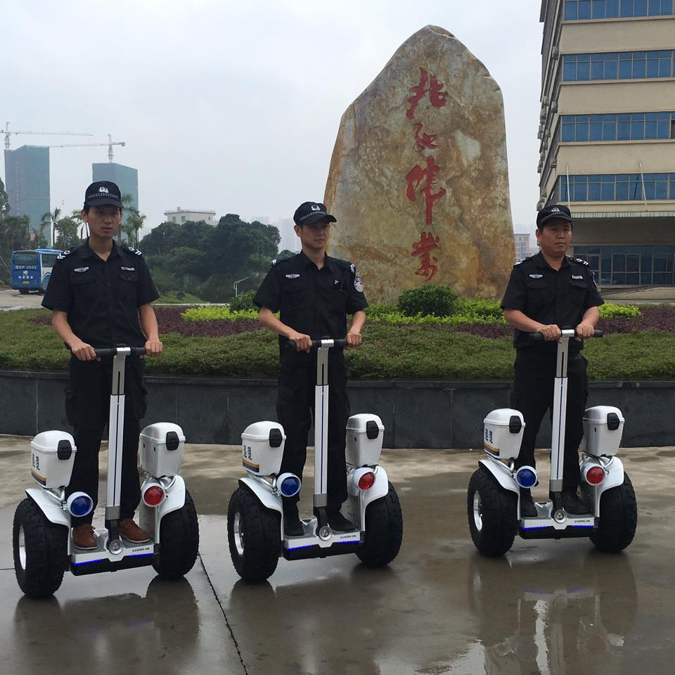 China 2016 new off road standing electric balance car security guard scooter