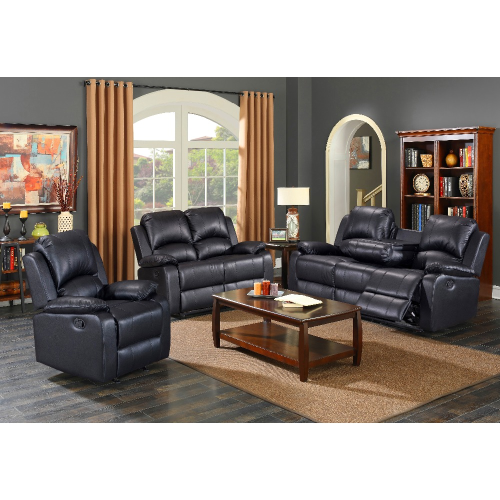 hot sell seaters used leather sofa sets/living room modern heated leather recliner sectional sofa