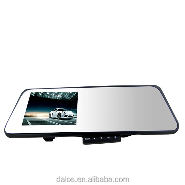 Auto Electronics Touch Button Control 4.3 Inch rearview mirror with parking camera