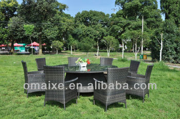 outdoor furniture rattan 8 seaters dining set