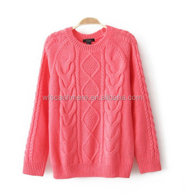christmas pop patterned wool pullovers for female