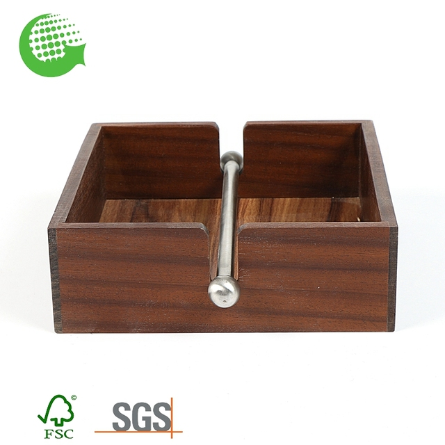 Factory Hot Sale Eco-friendly Cheap Wet Container Bamboo Wooden Tissue Box Wholesale