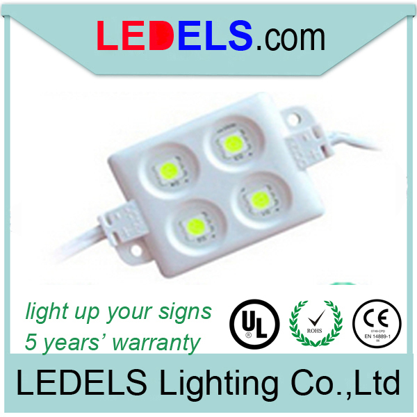 SMD 5050 led tuning light for signs, 4 pcs led lights 12v 0.96w for backlighting lightbox with 5 years warranty