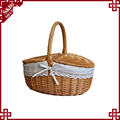 S&D 2017 new design RURALITY Wicker Picnic Basket Hamper with Lid and Handle