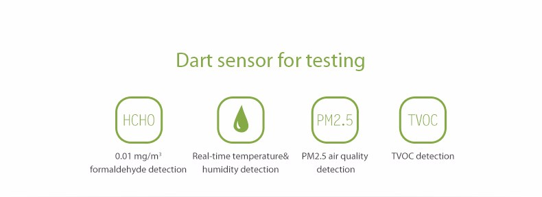 2017 new products air quality HCHO TVOC formaldehyde PM2.5 detector monitor