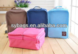 Nylon high capacity portable travel shoe bags