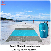 Oversized large 9'x10' quick drying light weight sand proof outdoor beach blanket