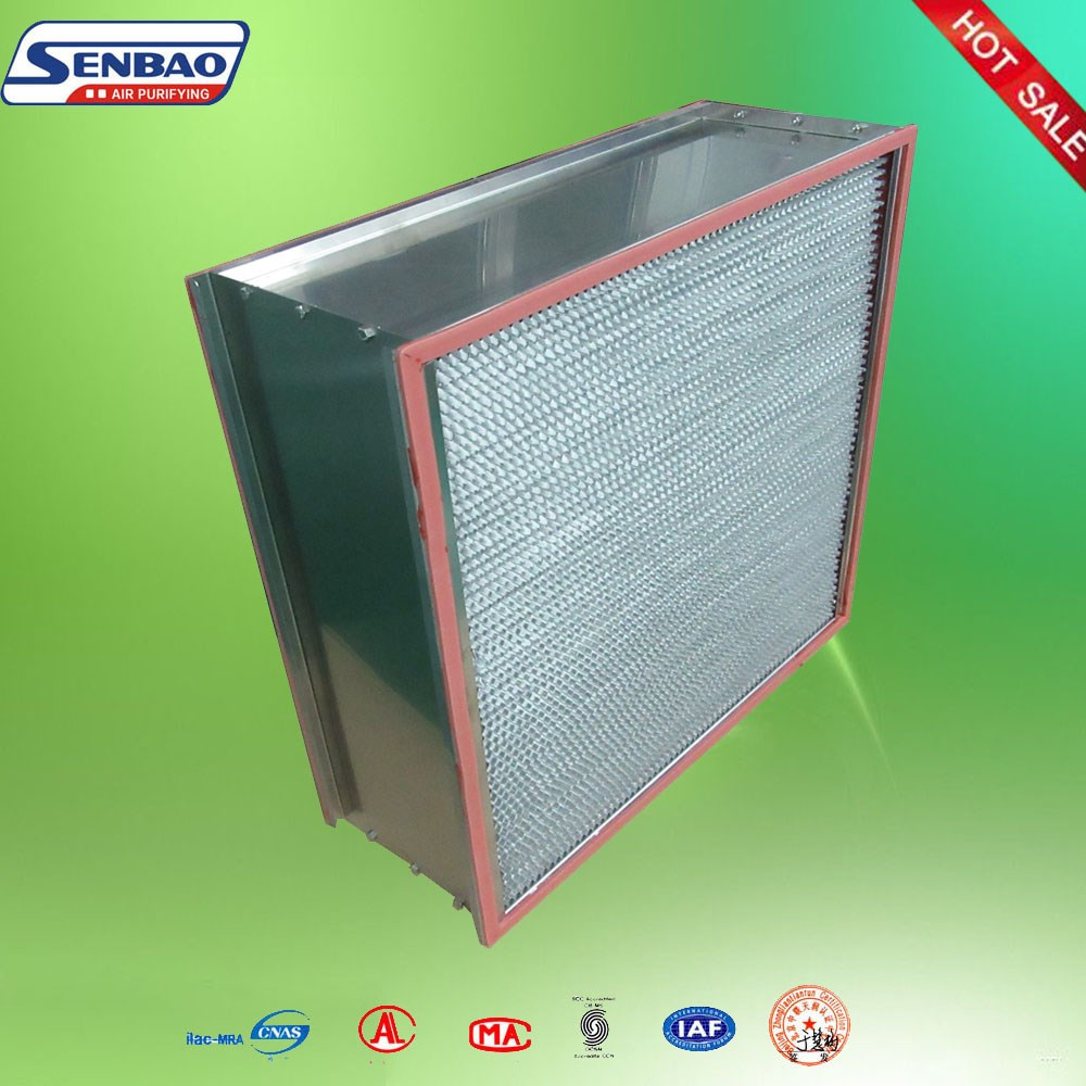 High Temperature Aluminum Foil Separator Terminal Hepa Filter