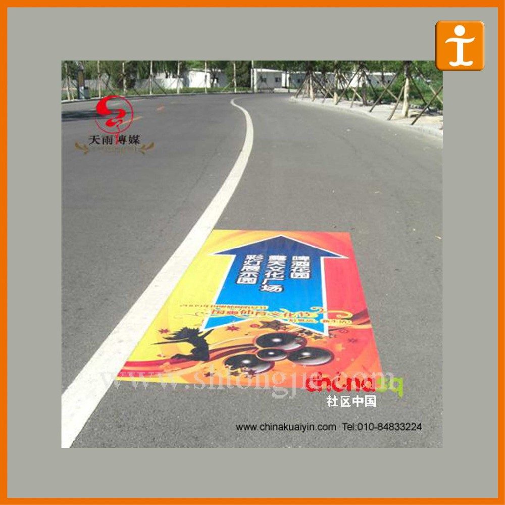 Street Durable Adhesive Stickers Good Qualities Decoration Floor Decal Sign Stickers