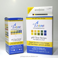 GRF swimming pool water pH test strips 0-14