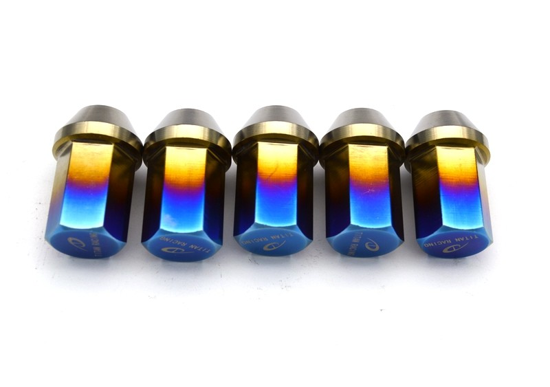 Gr5 Titanium lug nut M12*1.25/1.5*35mm