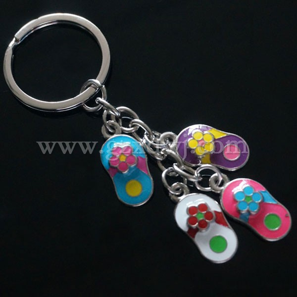 Guangzhou Manufacture Unique shoe style design metal plated key chains rings